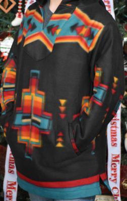Black Southwest Fleece Pullover