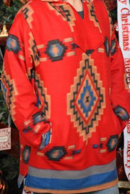 Red Southwest Fleece Pullover